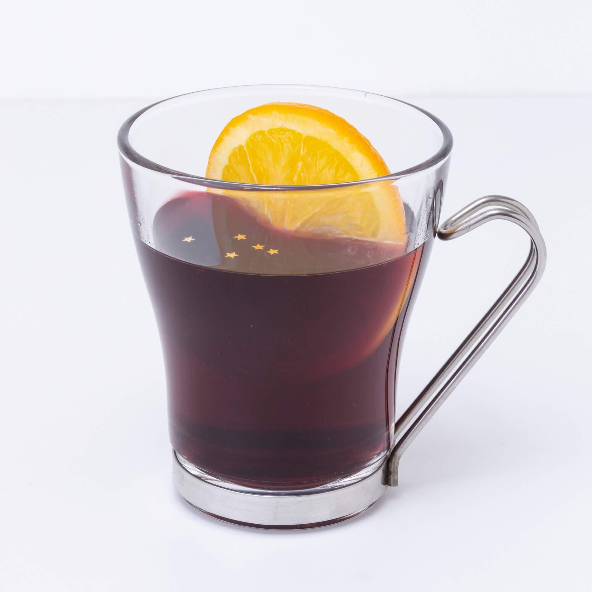オレンジのホット赤ワイン
