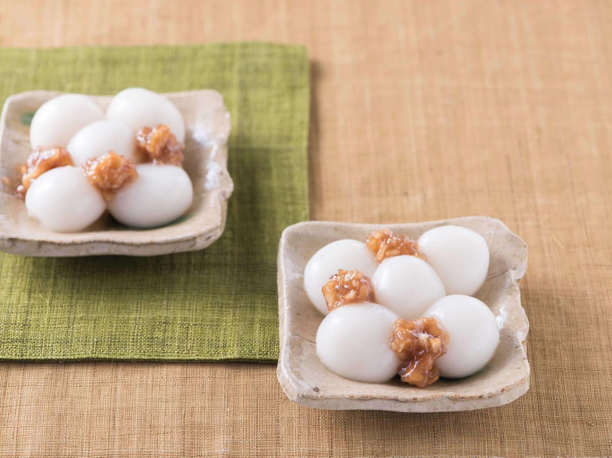 白玉だんごのクルミ味噌