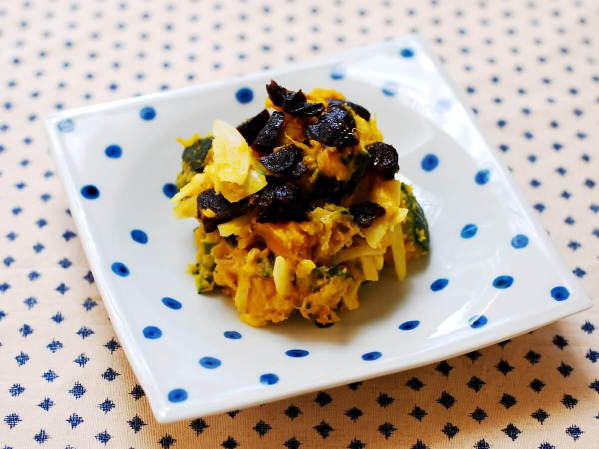 女性に嬉しい腸活レシピ【かぼちゃとプルーンのサラダ】