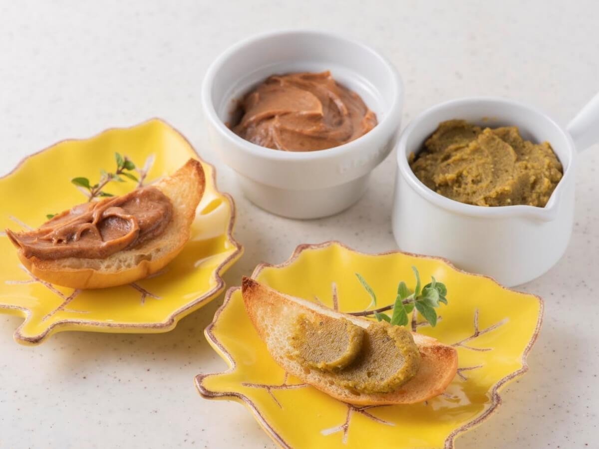 アーモンドのクリームディップ &ピスタチオのチーズディップ