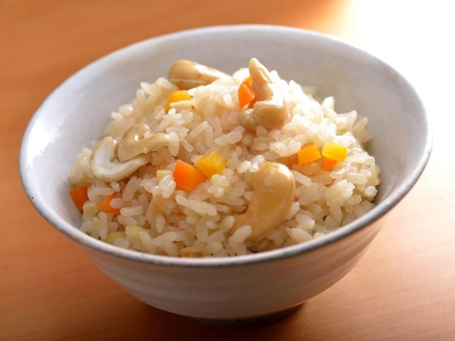 生姜入りカシューナッツご飯