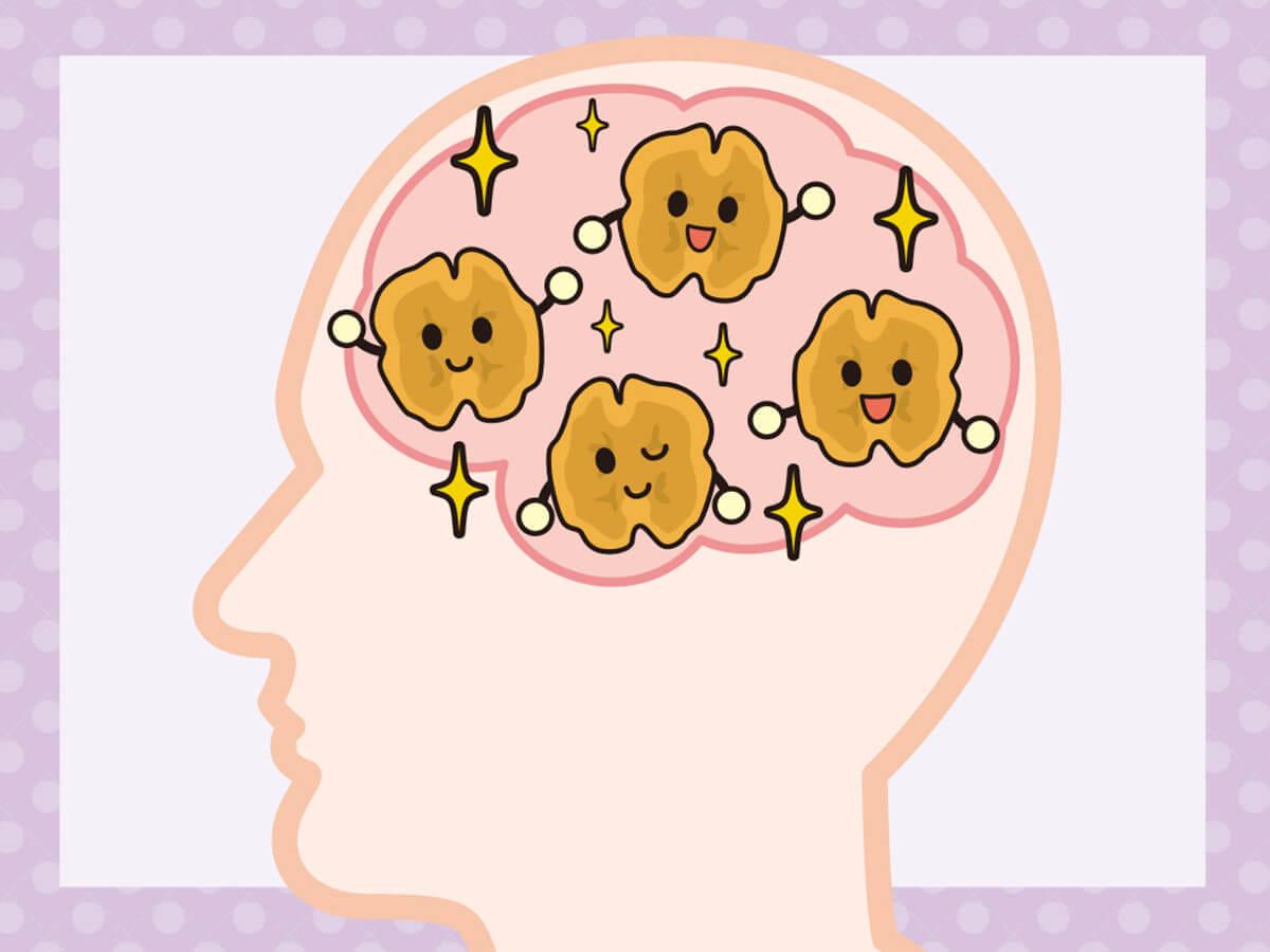 クルミ くるみ 偏頭痛 予防 睡眠 ホルモン メラトニン オメガ3脂肪酸 ストレス 寝不足 対策 1日 摂取 目安量 10粒