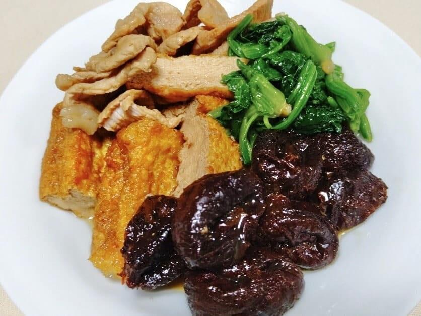 プルーンと厚揚げ、豚肉の煮物