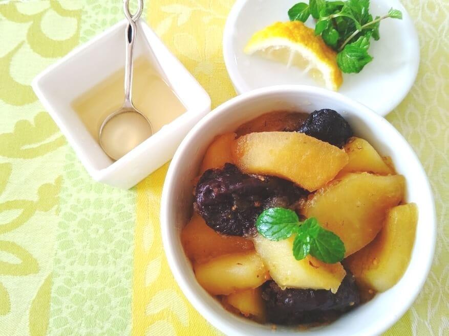 プルーンとりんごの香り酢煮