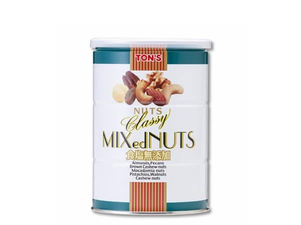 食塩無添加 クラッシー ミックスナッツ缶 360g