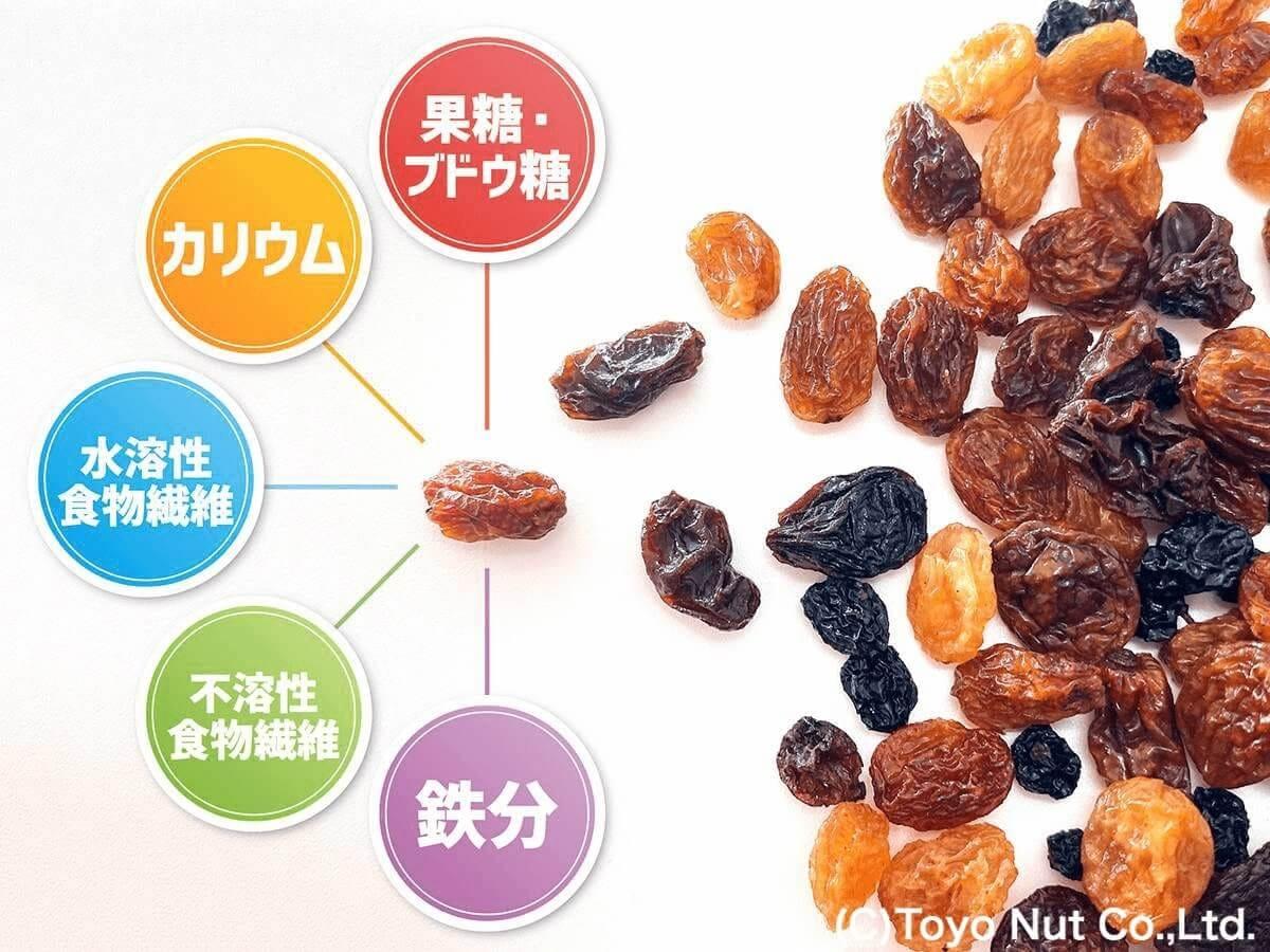 小さな1粒にいくつもの栄養を含んだレーズンの健康効果と1日の目安量について