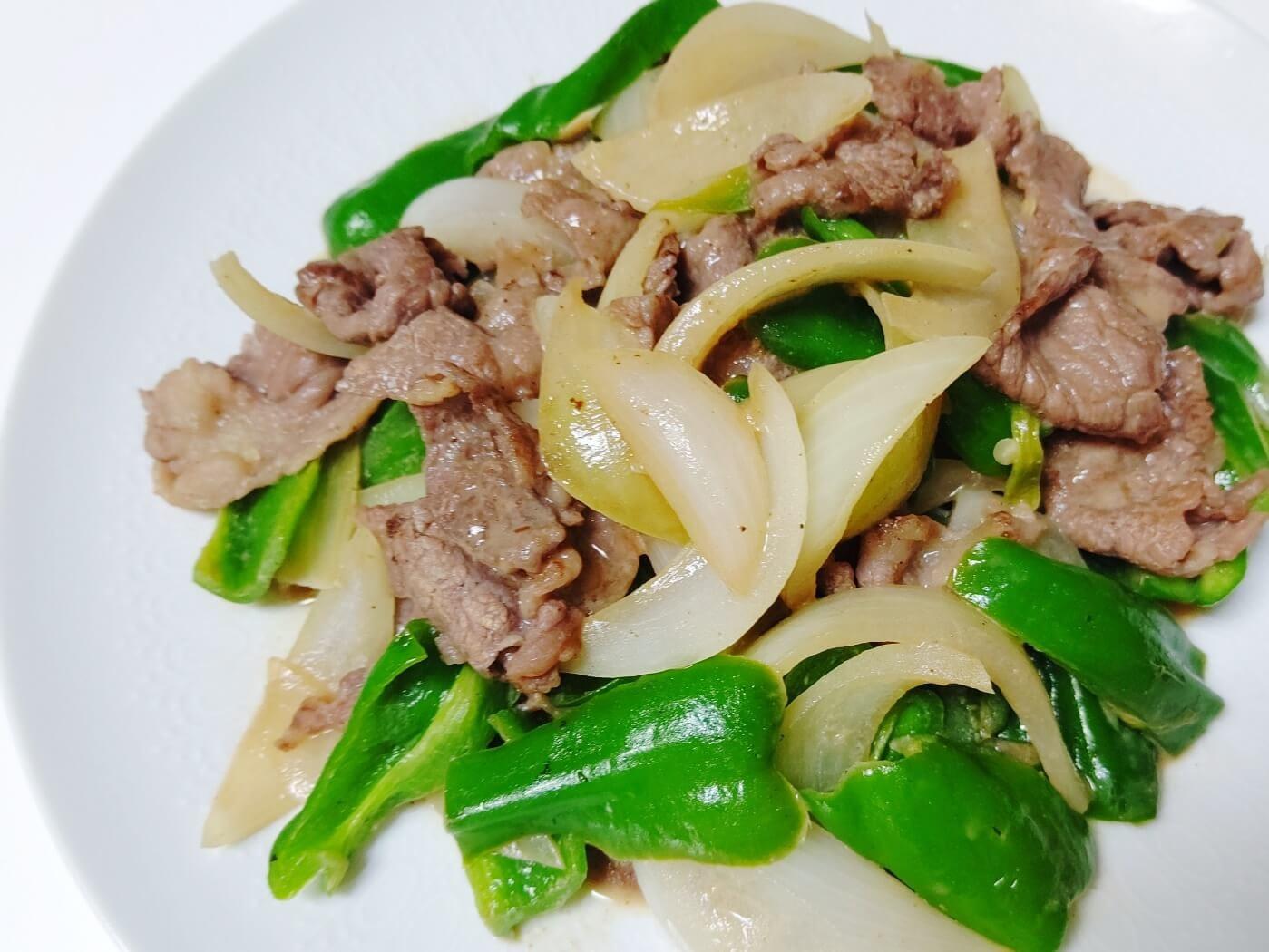 クルミペーストの肉野菜炒め
